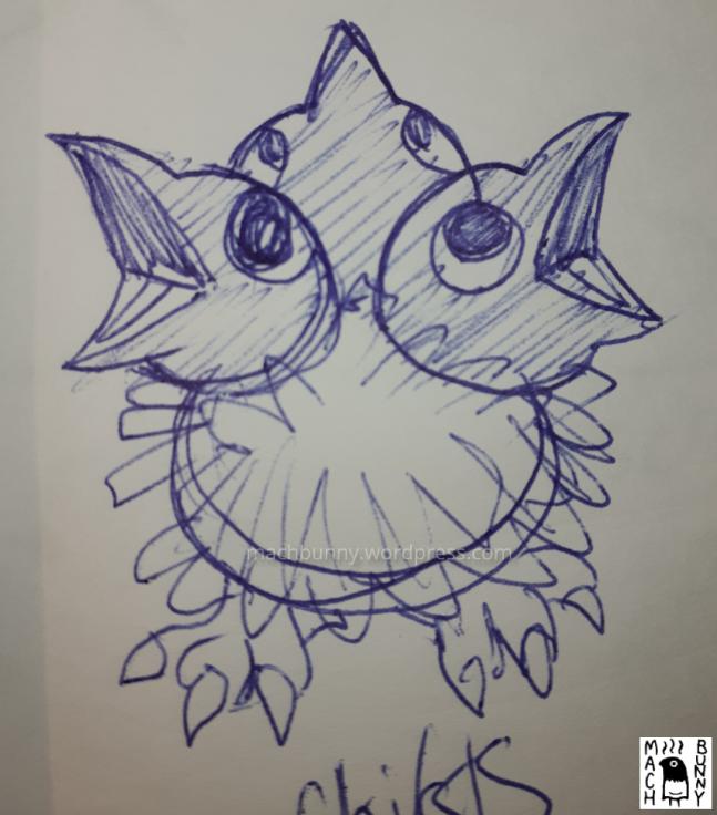 Chiks the Beta Pokemon amigurumi, concept art.