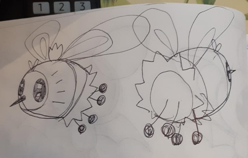 Concept art for cutiefly amigurumi