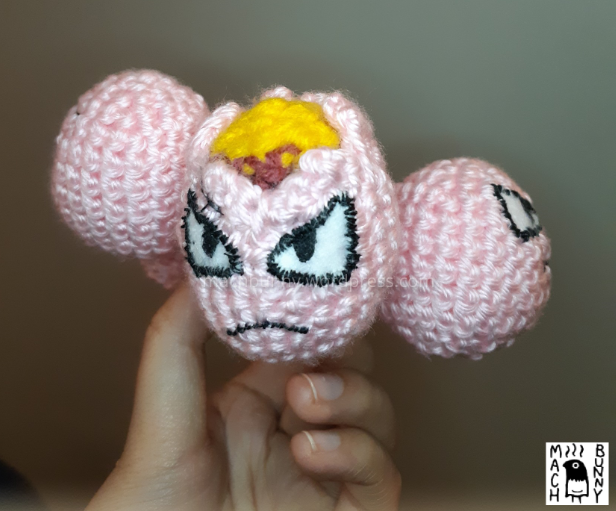 Amigurumi Exeggcute, back view