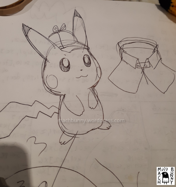 Amigurumi Detective Pikachu, concept art
