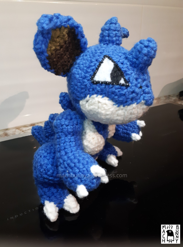 Amigurumi Nidoqueen, side view