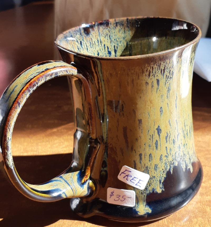 Handmade mug, bought in Owen Sound Farmer's Market