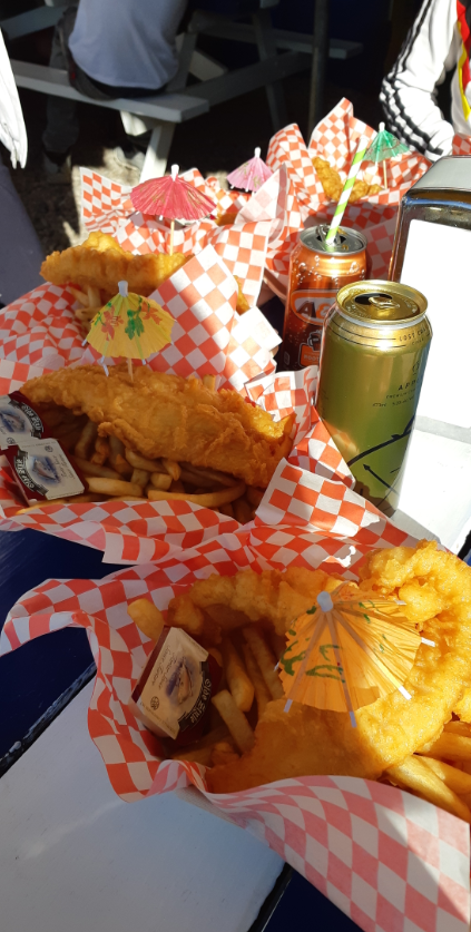 All you can eat fish n chips at Shipwreck Lee's in Tobomory