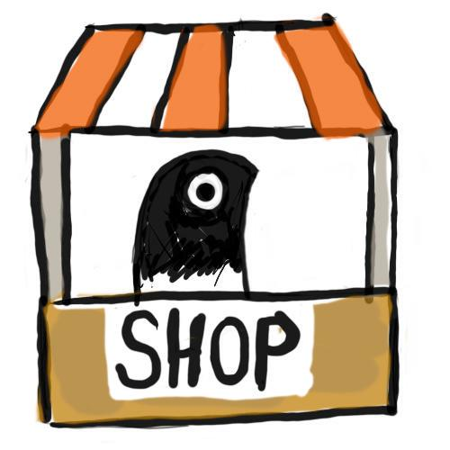 Burnt Bird shopkeeper says hi