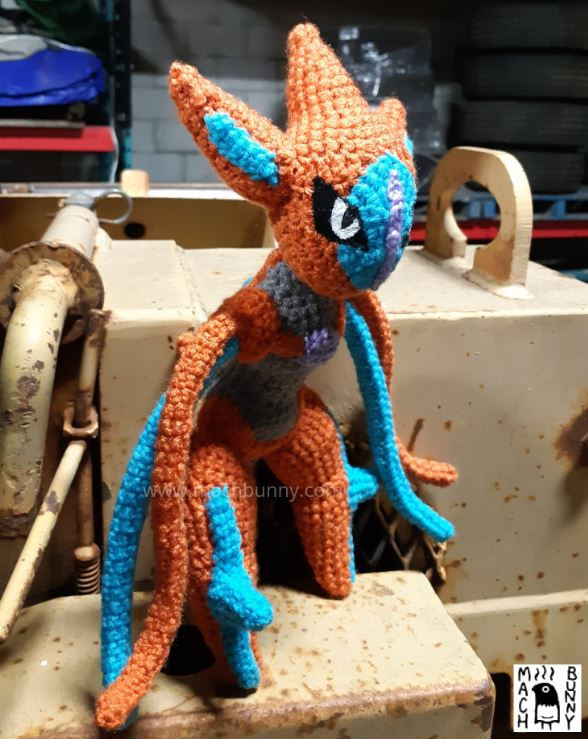Amigurumi Deoxys, front view