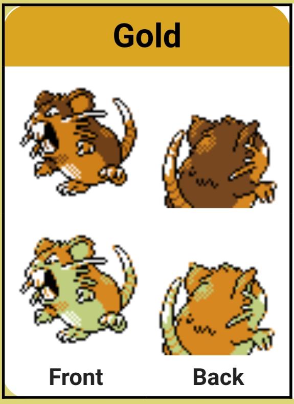 Raticate sprite art from pokemon gold version