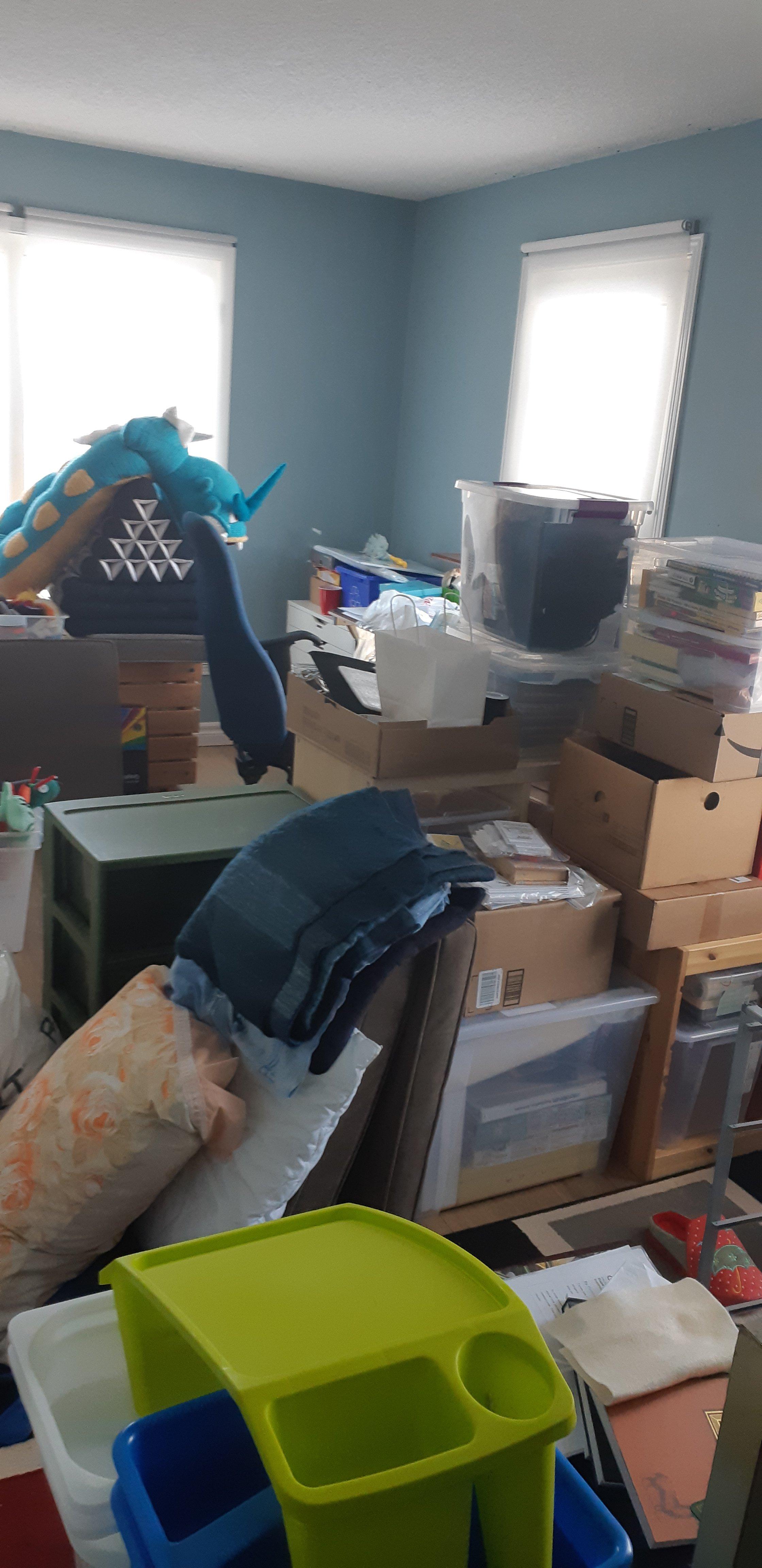 My unorganized craft room.