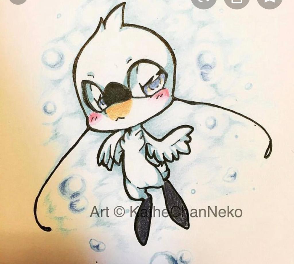 Swan Kwami design by KatheChanNeko